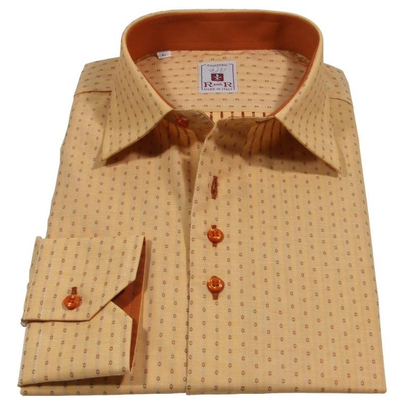 Camicia uomo arancio-sepia