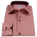Camicia uomo color sangria