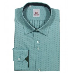 antique green men's shirt