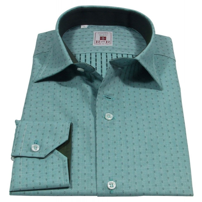 Italian collar men's shirt