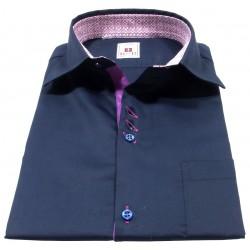Camicia maniche corte blu