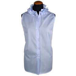 Women's sleeveless shirt with ruffles
