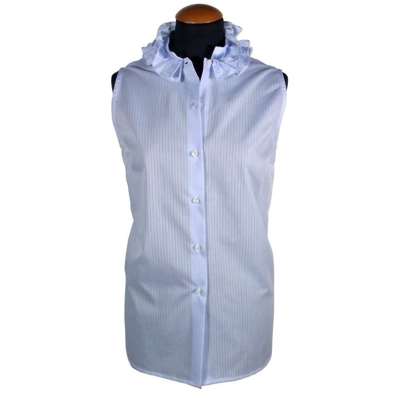 Women's sleeveless shirt with ruffles
