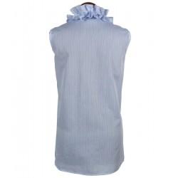 sleeveless blouse with ruffles