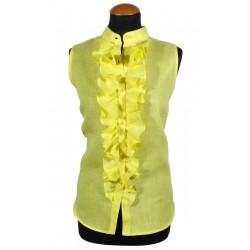 Camicia donna smanicata gialla