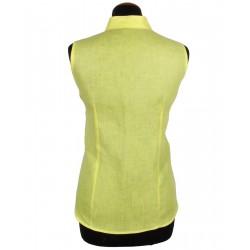 Camicia smanicata gialla