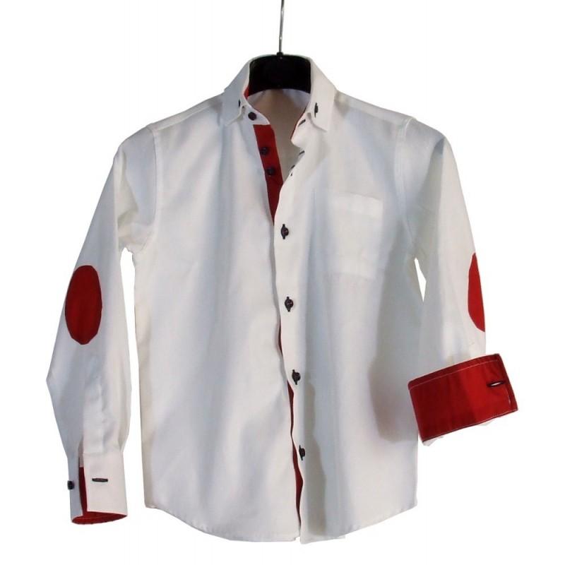Weisse Klein Kind Hemd