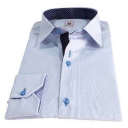 micro cheked men's shirt