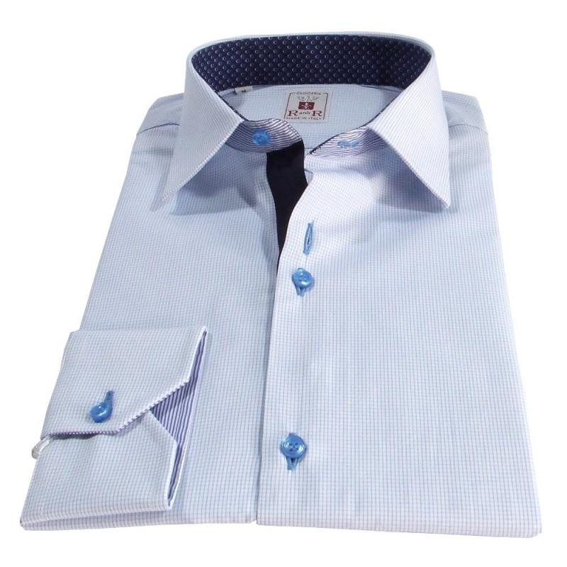 micro cheked men's shirt
