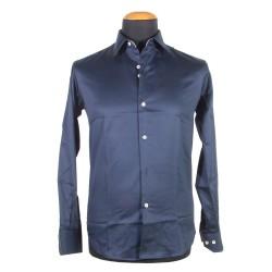 blue man's shirt