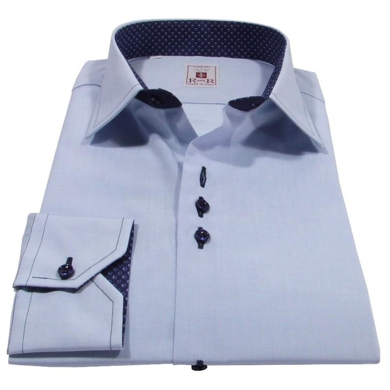 Herrenhemd Azurblau