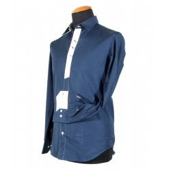 Camicia uomo blu
