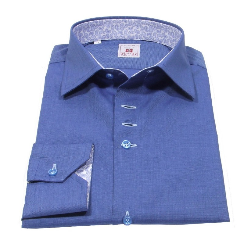 dark azure men's shirt