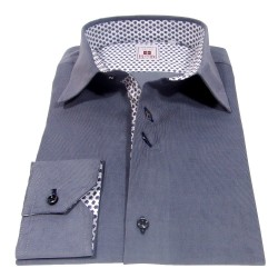 Gray velvet men's shirt