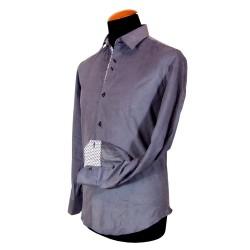Camicia in velluto grigio