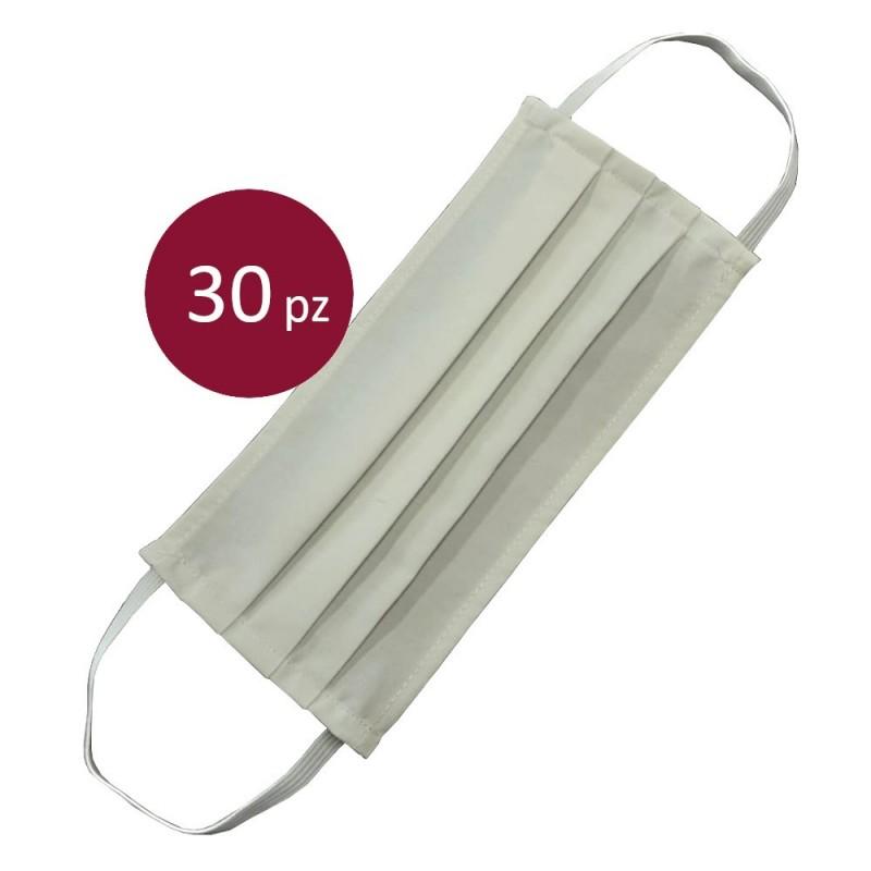 30 Mascherine Protettive bianche in cotone