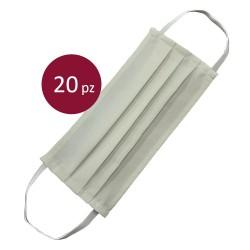 20 Mascherine Protettive bianche in cotone