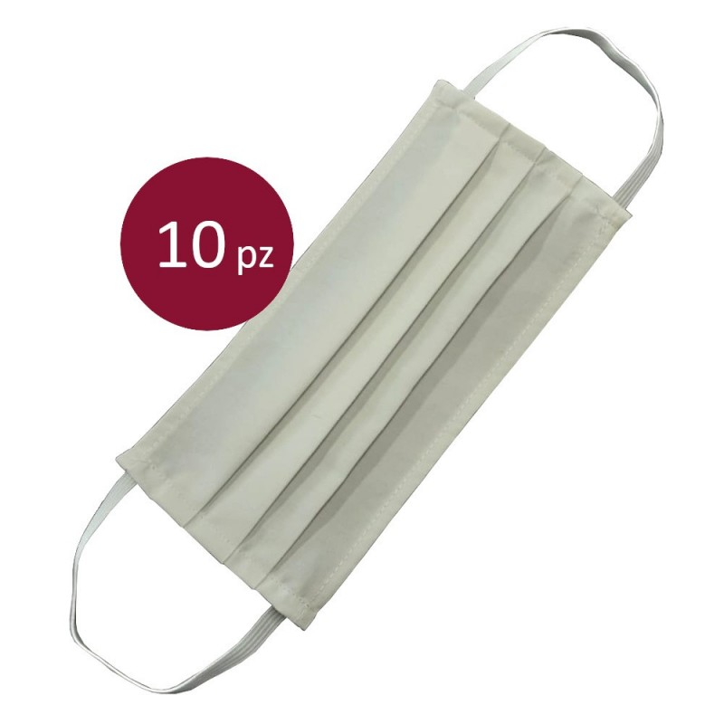 Schutzmaske Weiß aus Baumwolle