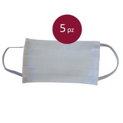 5 weiße Schutzmasken für...