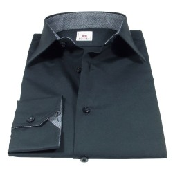 Black shirt with Italian classic collar