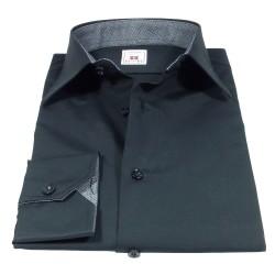 Black shirt with Italian classic collar