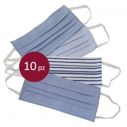 10 Schutzmaske gemischt gemustert in Baumwolle