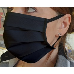 Protective Mask Black in cotton