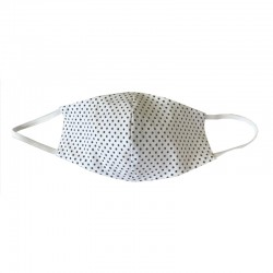 Shaped mask in white cotton...