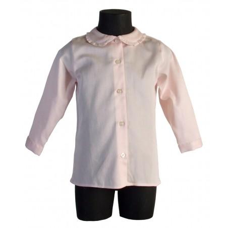 Kleines Mädchen Hemd RANUNCOLO ROSA