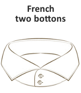French two bottons collar