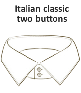Italian classic collar two buttons