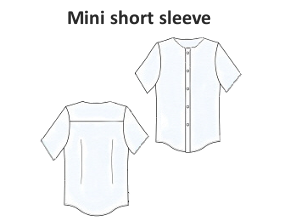 Short sleeve mini shirt