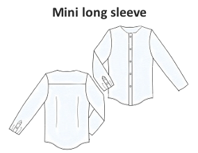 Long sleeve mini shirt