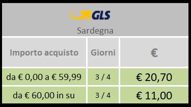 Spedizione in Sardegna con GLS